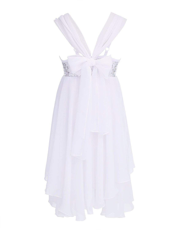 CHICTRY Girls Children Sweetheart Sequins Chiffon Dance Lyrical Dress Sash  Bow Tie Ballroom… 341e6dd70e3a
