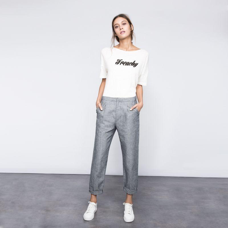 Pantalon carotte gris femme   So electricien evry c796038b8ae5