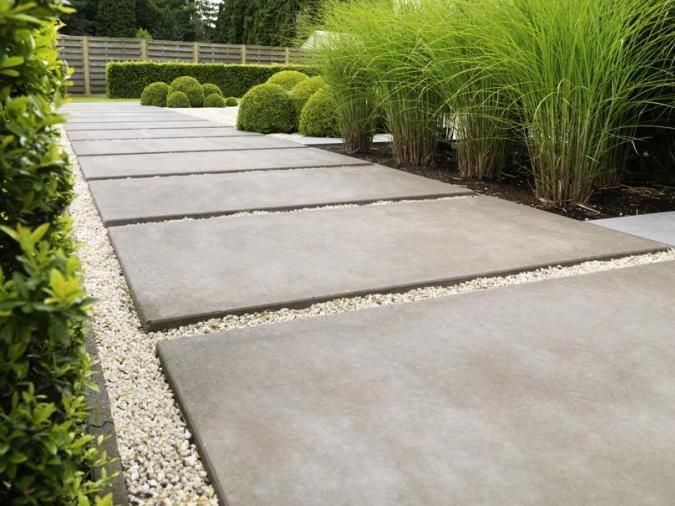 Concrete paver pathway landscaping pavers pinterest for Paving designs for small garden path