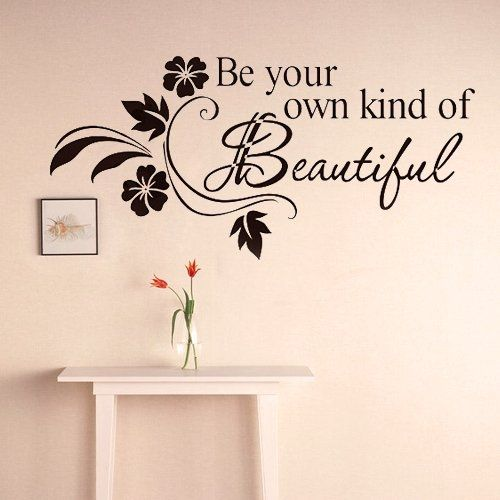 Black vinly quote letter floral door room window art mural wall sticker decal amazon