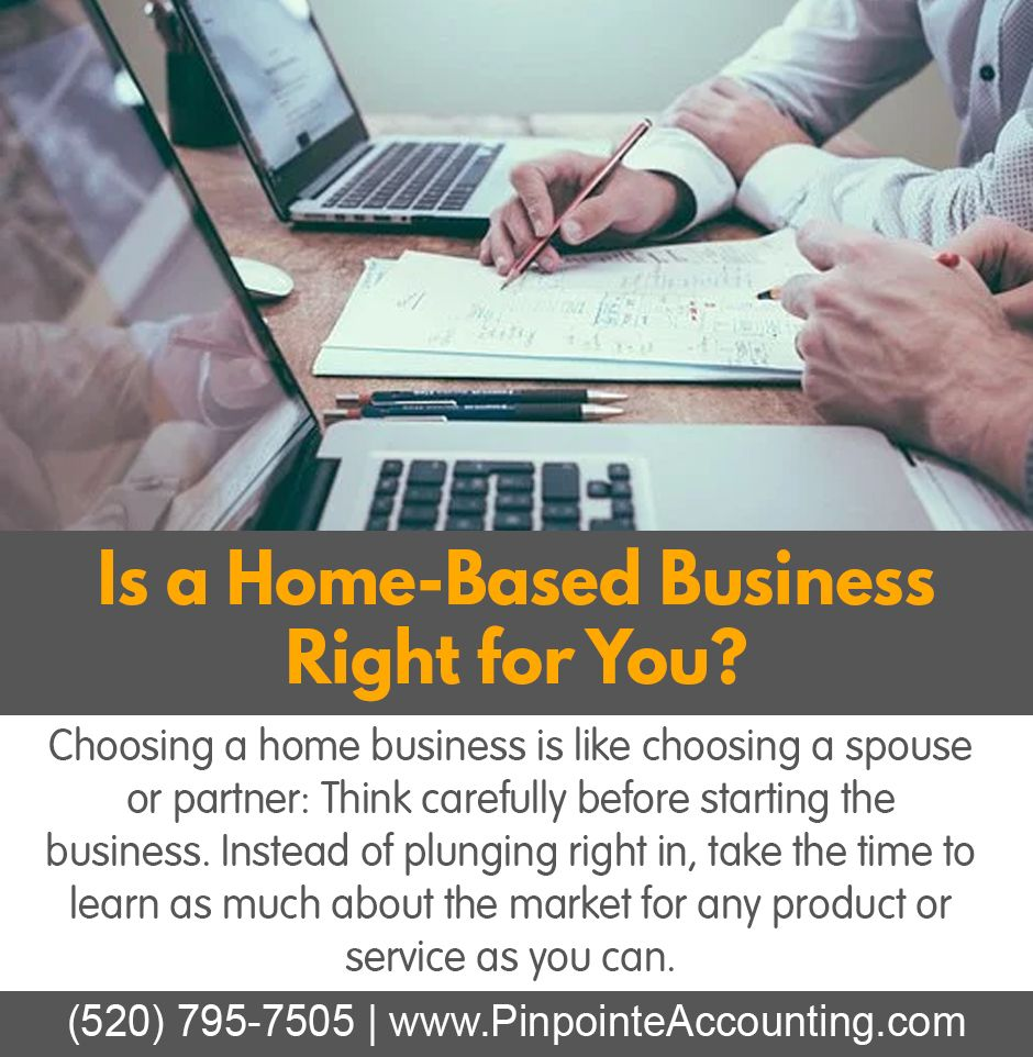 If a homebased business is in your future then a tax