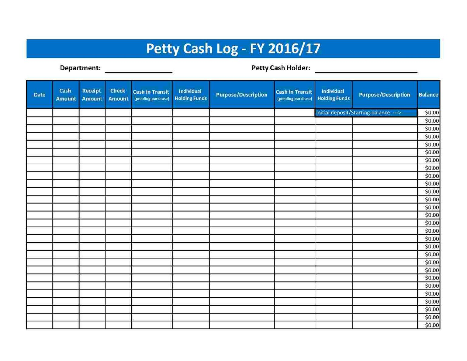 Download Petty Cash Log Style 68 Template For Free At With Petty Cash Expense Report Template Business Template Professional Templates Report Template