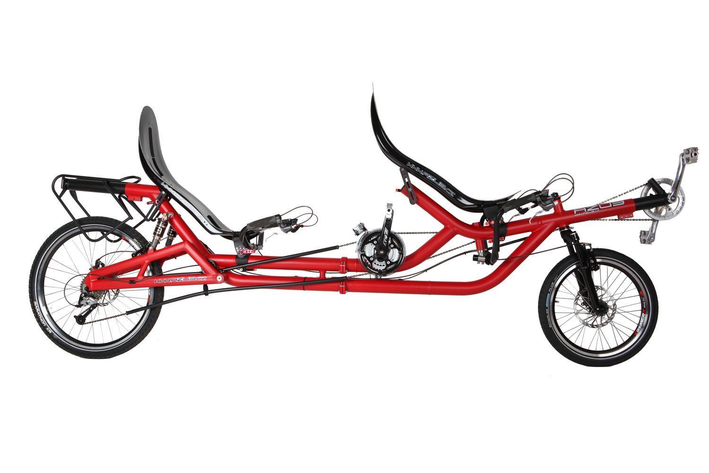 Azub Twin Tandem Folding Recumbent Bike 20 26 Recumbent Bicycle Bike Tandem Bike