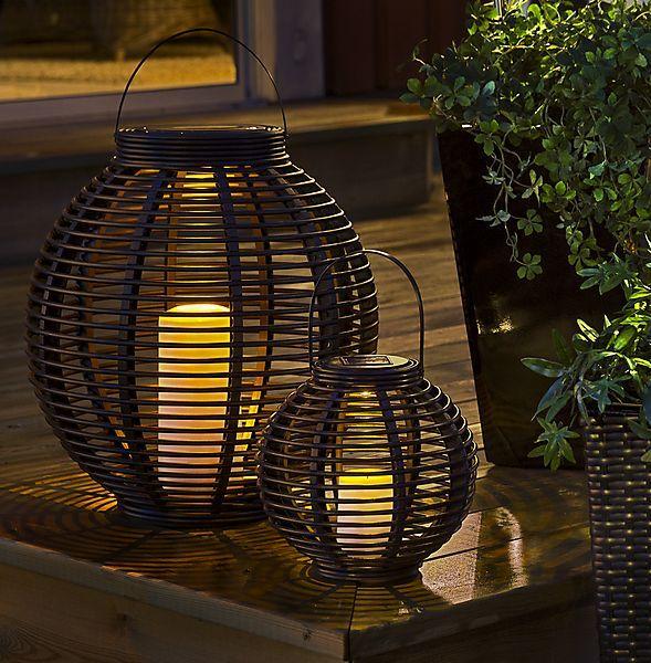 Solar Basket Lantern Lanterns Table Lamp Solar