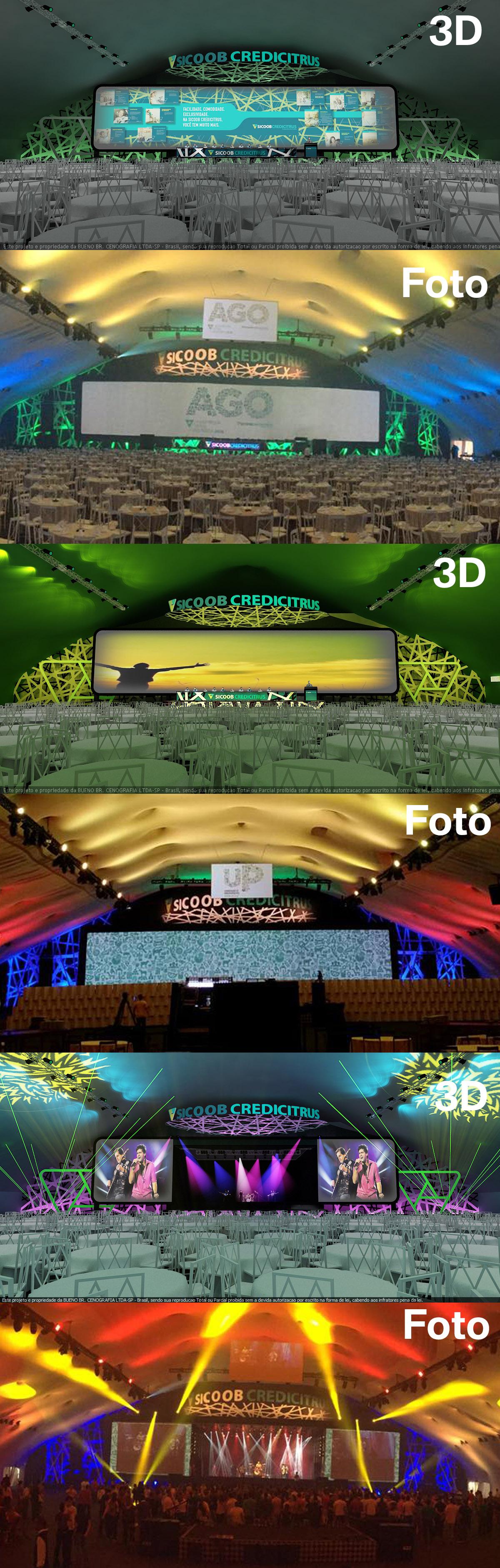 SICOOB CREDICITRUS 2016    Quando o Projeto 3D e o Evento Real acontecendo se confundem...  #buenobrcenografia  #criacao3D