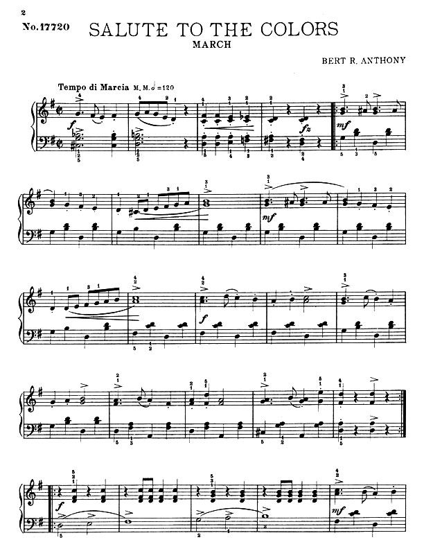 March For The Pianoforte Sheet Music