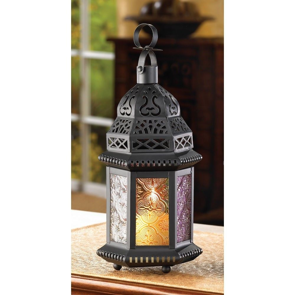Multi color candle lantern tealight wedding party centerpieces