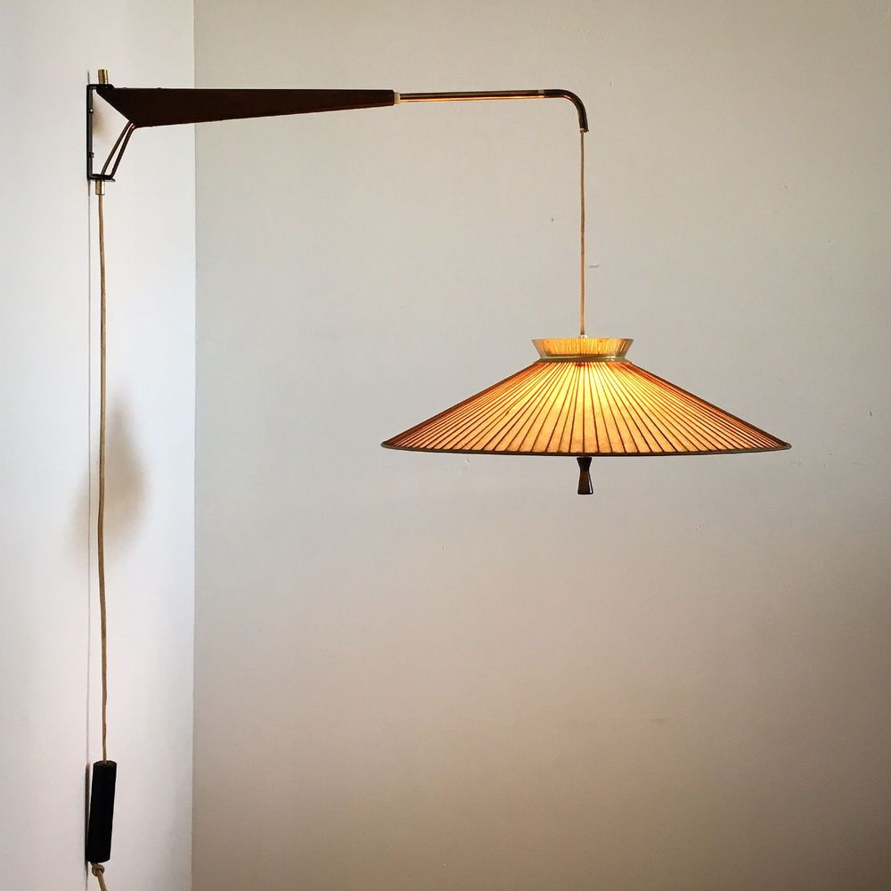 Extremely Rare Wall Mounted Pendant Lamp Designed By Gerald Thurston For Lightolier C1950 S Cantilev Wall Lamp Design Modern Wall Lamp Design Modern Wall Lamp
