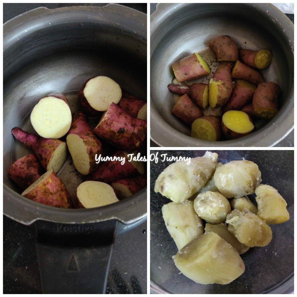 Sweet Potato Gulab Jamun Yummy Tales Of Tummy Recipe In 2020 Boiling Sweet Potatoes Sweet Potato Recipes Sweet Potato
