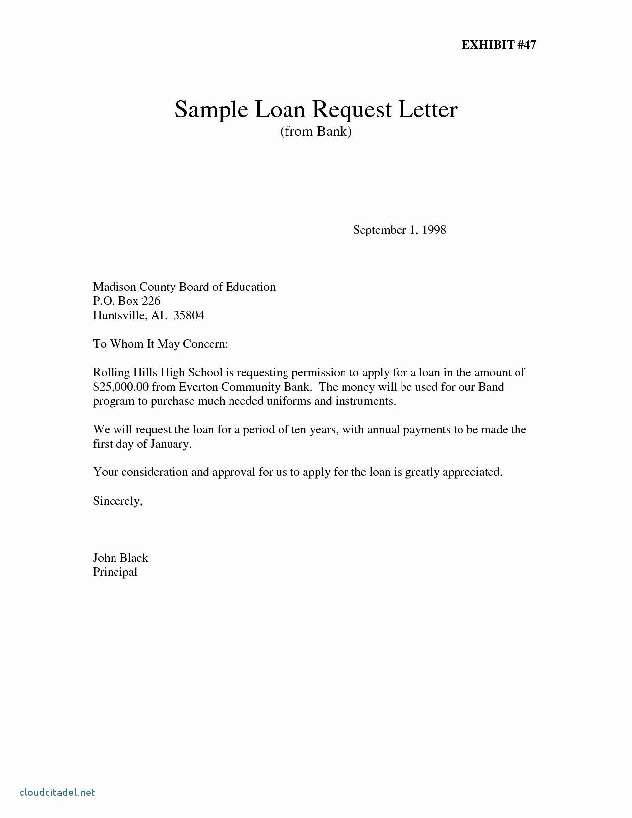 request letter for bank loan for business proposal