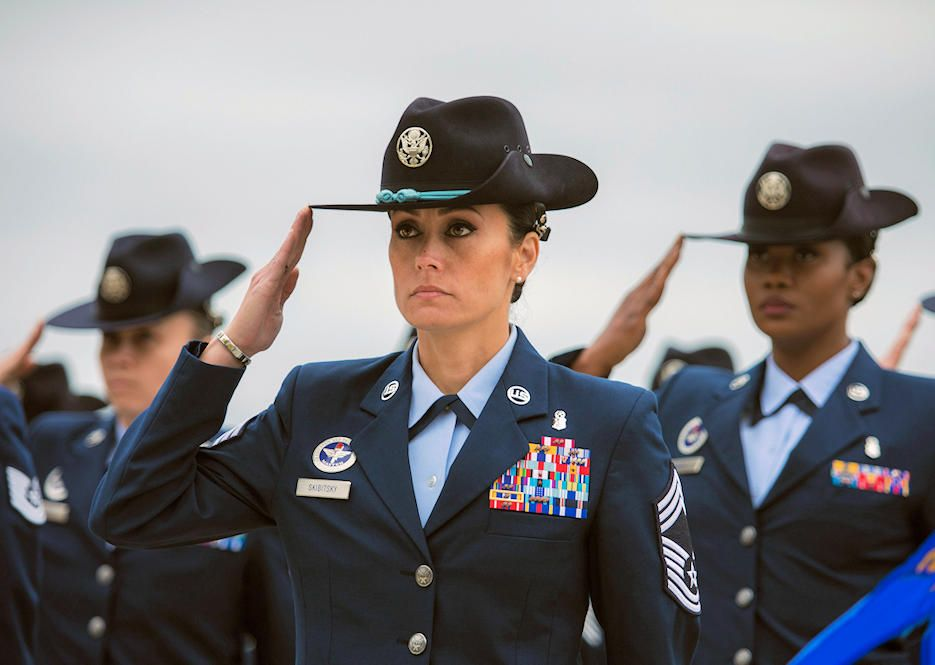 U S Air Force Chief Master Sgt Hope L Skibitsky Leads