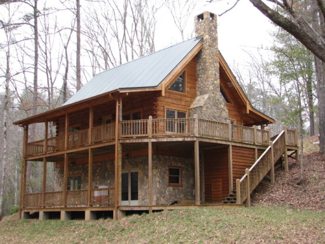 superb two story log cabin #2: 2 story log cabin homes