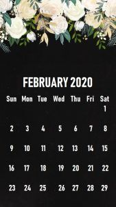 February 2020 Calendar Wallpaper Phone February 2020 iPhone Wallpaper   Free Printable Calendar Templates