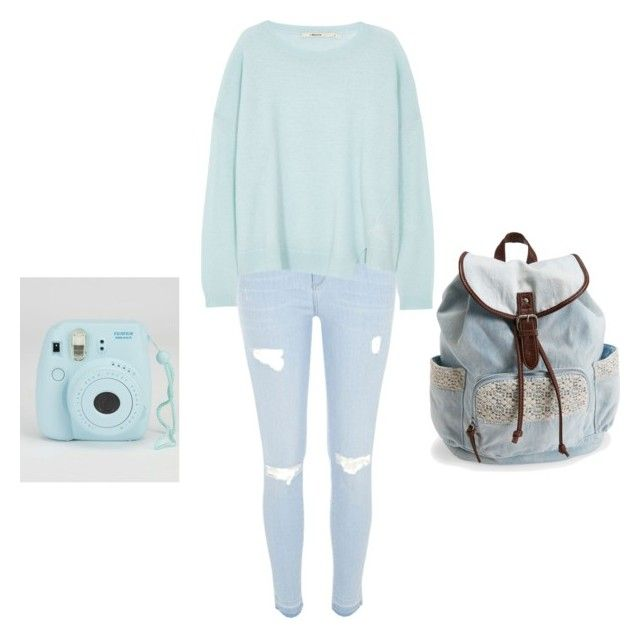 """Blue day"" by animallover1302 ❤ liked on Polyvore featuring River Island, J Brand and Aéropostale"