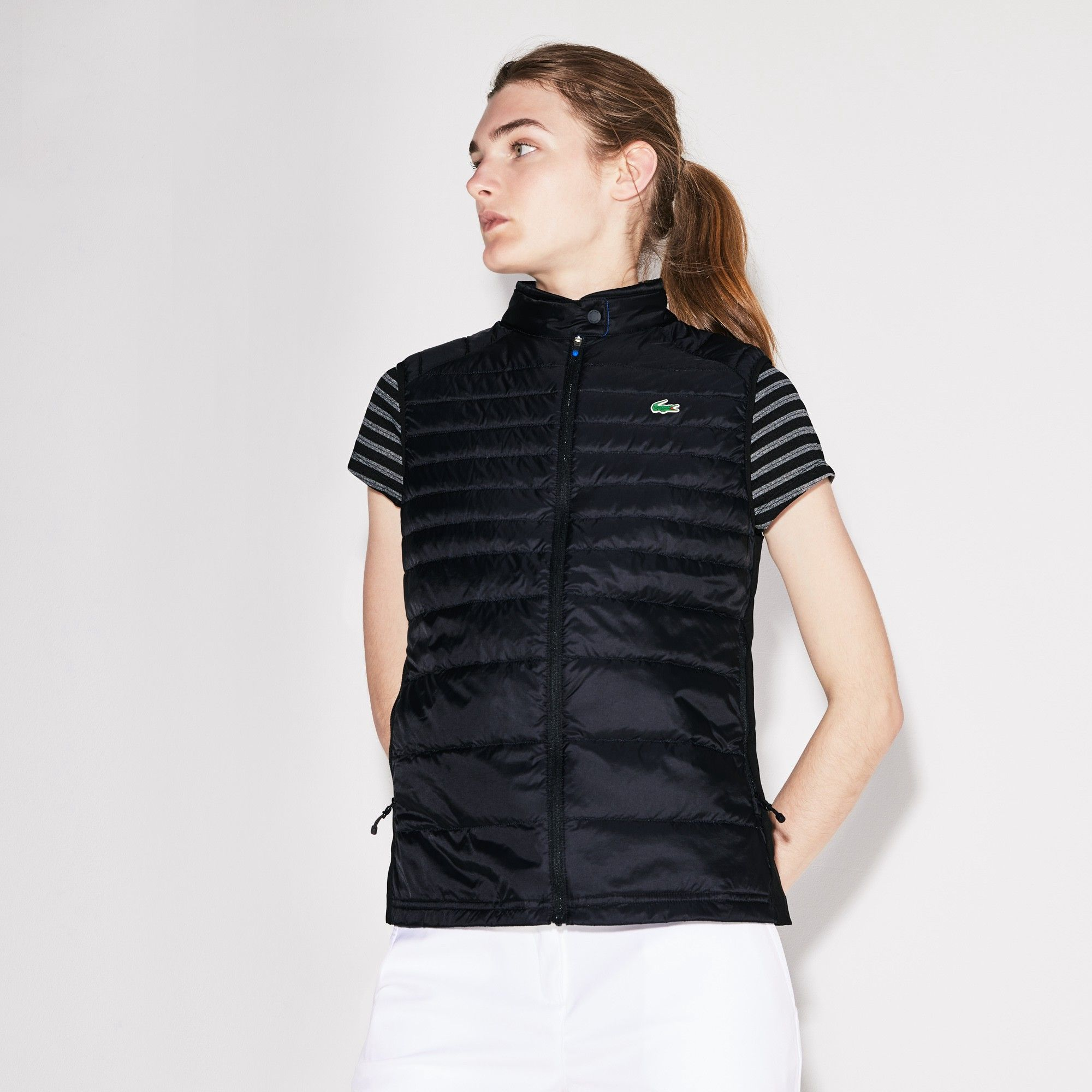 15f7e12dd1cf Lacoste Women s Sport Water-Resistant Quilted Technical Golf Vest - XXL  Green