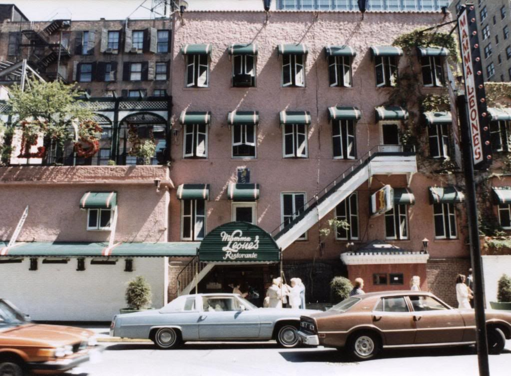 Mama Leones restaurant New York City, closed in 1987