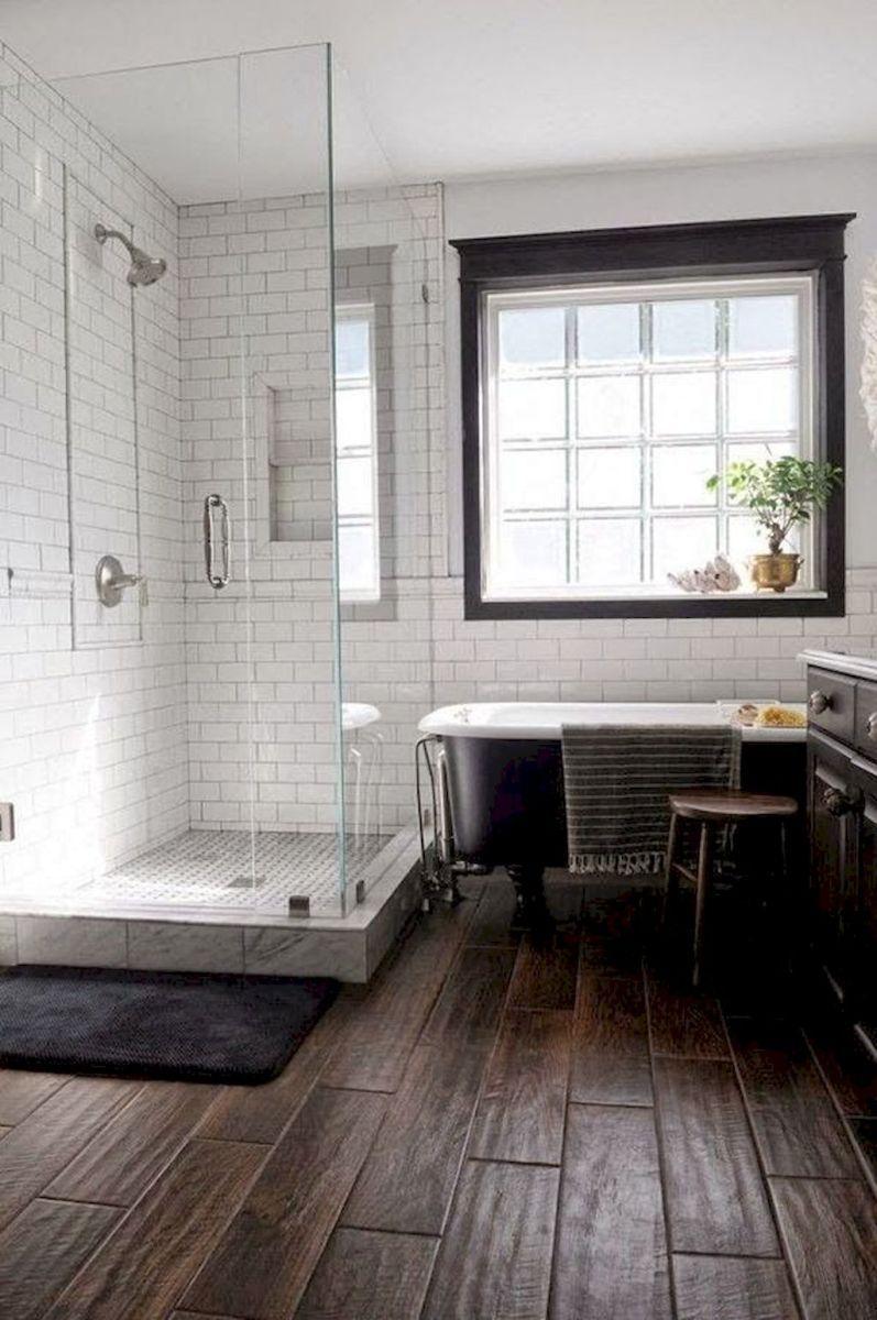 70 inspiring farmhouse bathroom shower decor ideas and remodel to ...