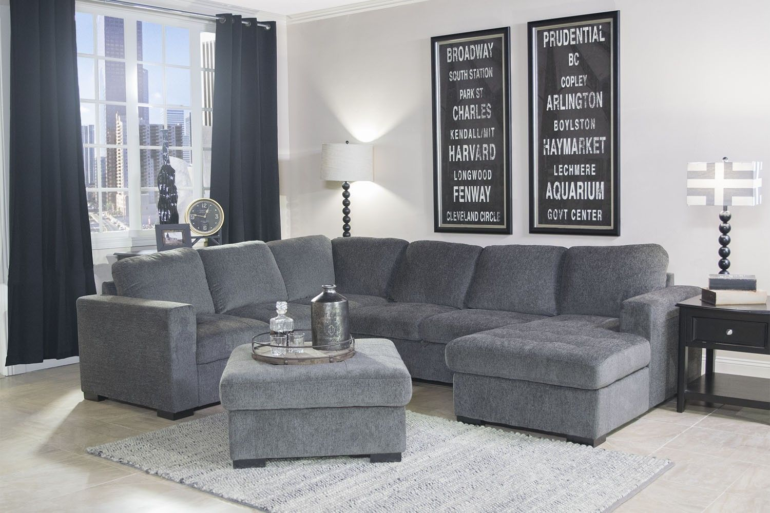 Mor Furniture For Less The Claire 3 Piece Right Facing Chaise Sectional