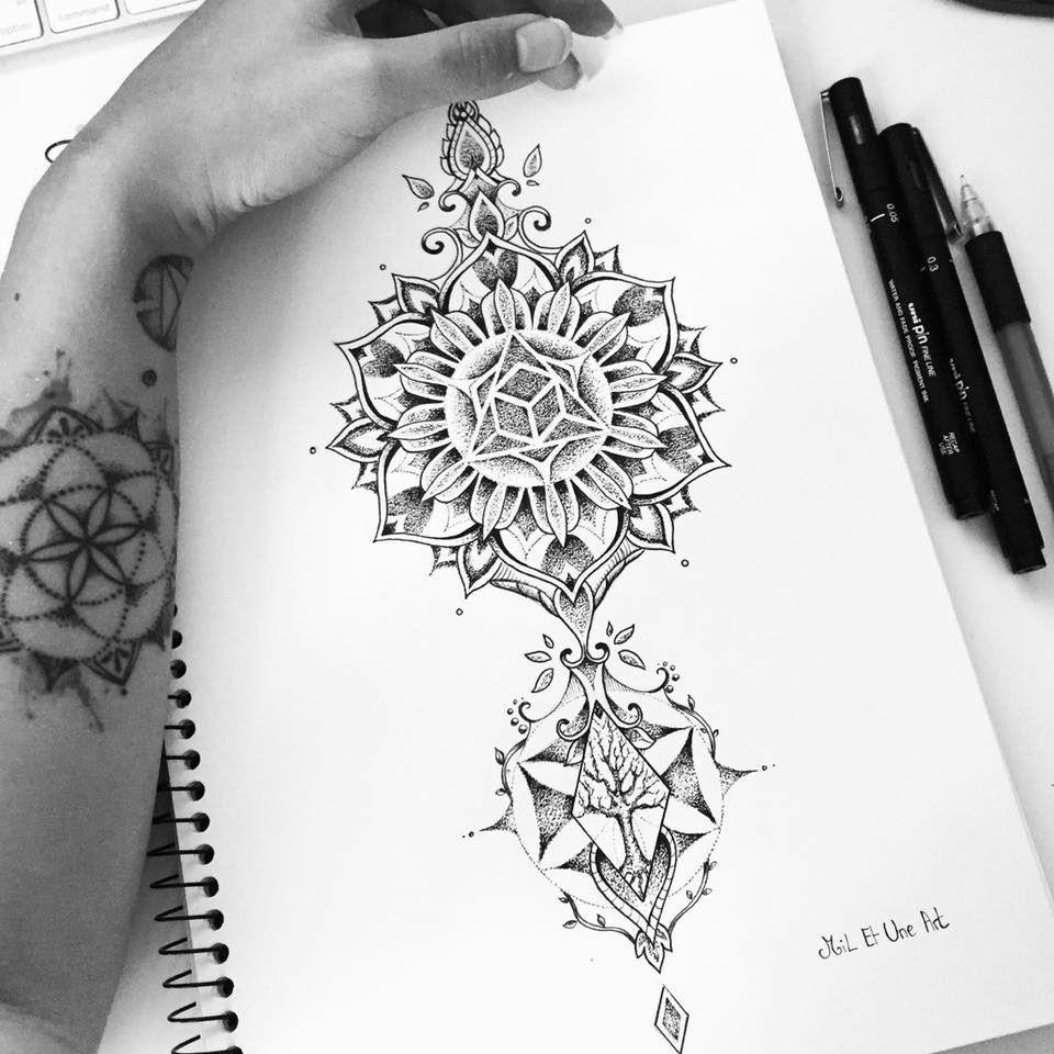 Mandala Calf Tattoo Design On Behance Mandala Tattoo Design