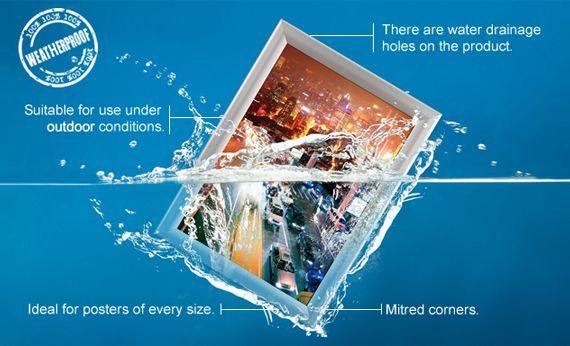 Outdoor Poster Frames Weatherproof Exterior Frames Poster Frame Weatherproofing Frame