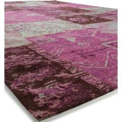 Photo of benuta Trends Flachgewebeteppich Frencie Lila 200×285 cm – Vintage Teppich im Used-Look