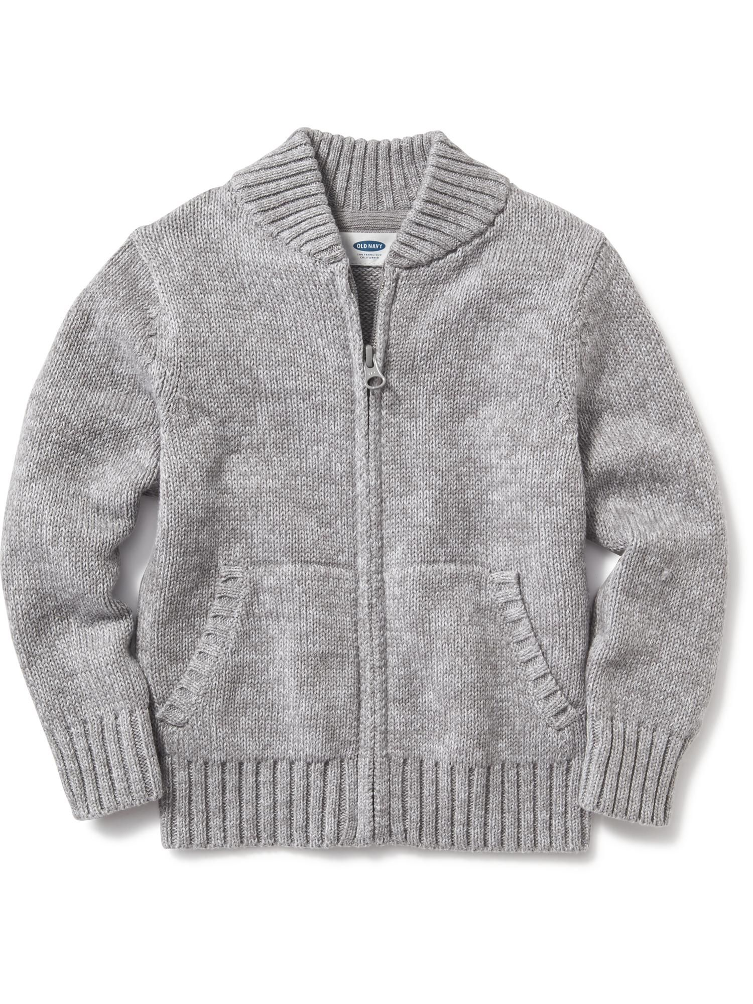 Uniform Shawl Collar Zip-Front Sweater for Toddler | Old Navy ...