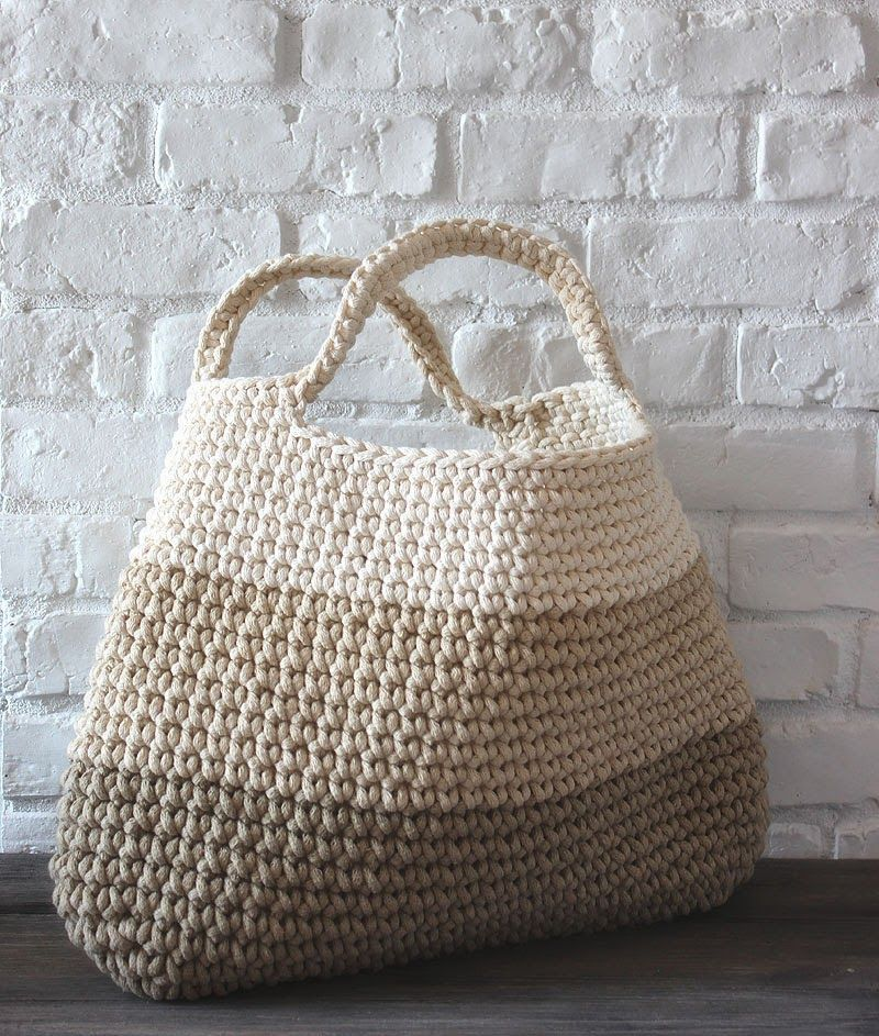 """""""crochet basket/bag..no pattern found just a great photo and inspiration..."""" It…"""