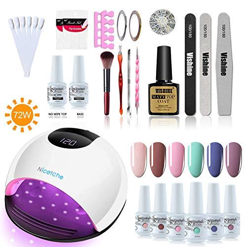 Vishine Led Uv Gel Nail Lamp Set 72w Gel Nail Dryer Best Offer Luxclout Com Nail Dryer Gel Nails Uv Gel Nails
