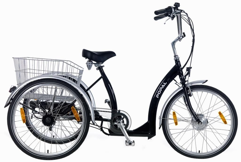 24 Zoll Senioren Elektro Dreirad Popal 2405e 7 Gang Farbe Schwarz Dreirad Schwarz Farbe Rad