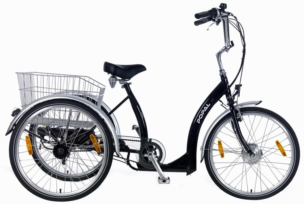 E Bike 24 Zoll Popal 2405e Senioren Elektro Dreirad 7 Gang Farbe