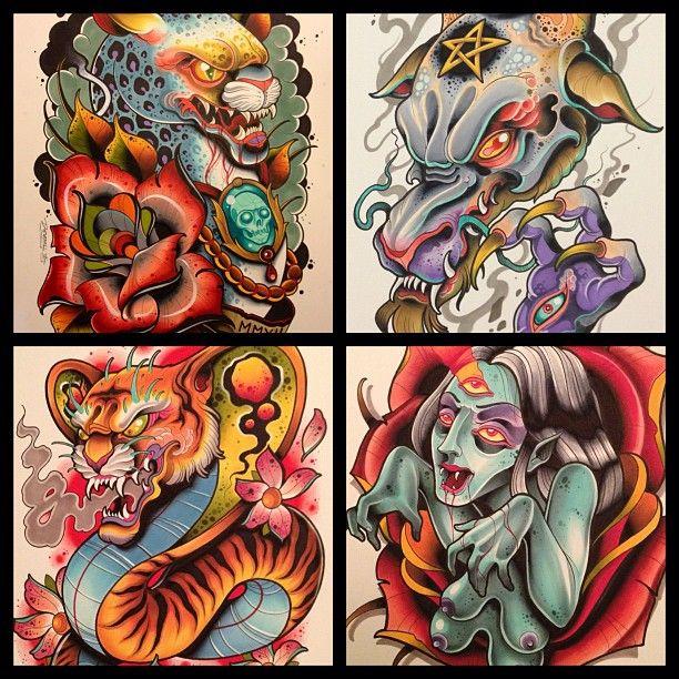 Silo Tattoos Incredible Body Art Masterpieces That Look: Tattoo Flash Art, New School