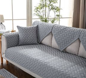 Amazon Com Ostepdecor Sofa Cover Velvet Couch Cover Quilted Sectional Couch Covers Sofa Slipcover Seat In 2020 Slip Covers Couch Sectional Couch Cover Quilted Sofa