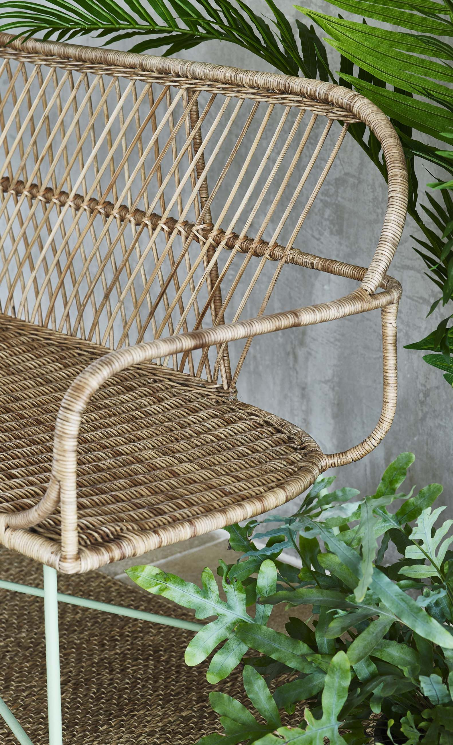 Bring The Outdoors In With Indoor Rattan Miroco Bench