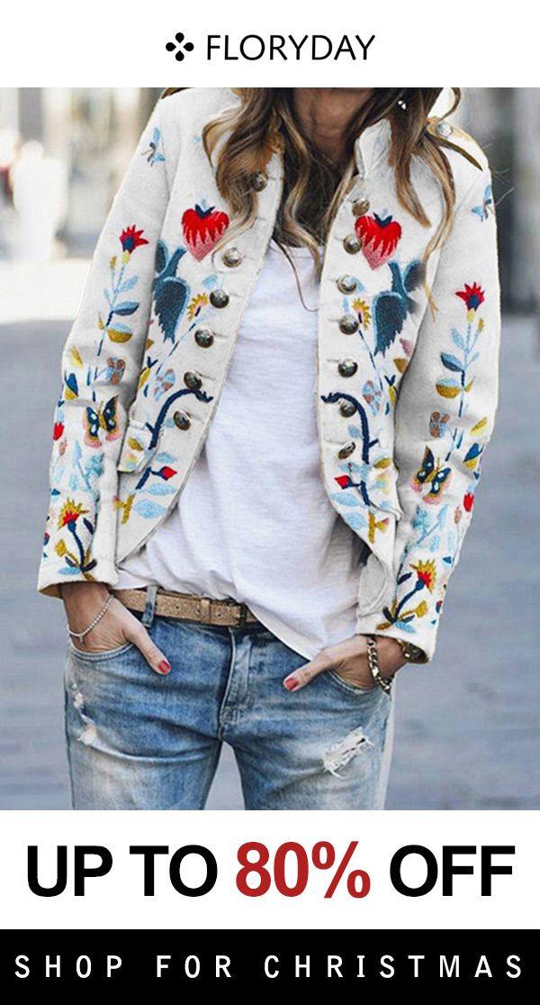 Long sleeve high neckline pockets coat 3