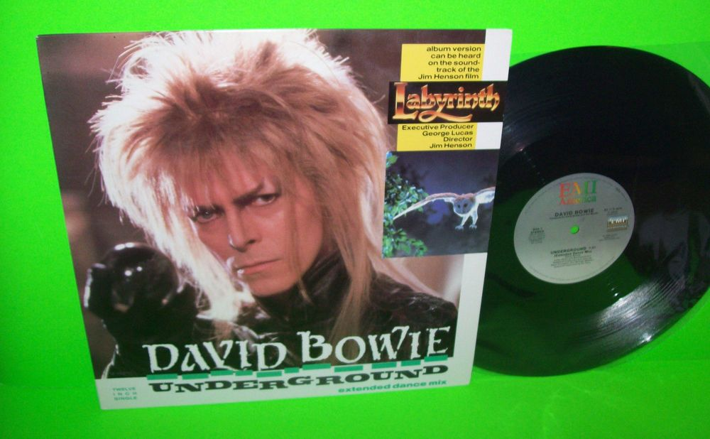 David Bowie Underground Extended Dance Mix Vintage Vinyl 12 Single Labyrinth Electronica David Bowie Synth Pop