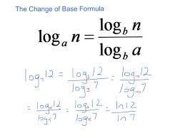 Image Result For Change Of Base Formula With Images Math