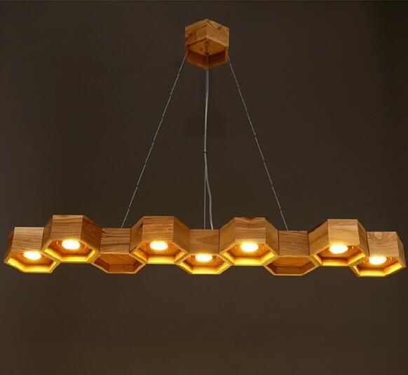 buy online 69217 1188c Wood Honeycomb Chandelier Light Fixture | Kitchen in 2019 ...