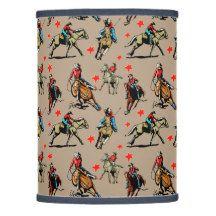 Cowgirls Riding Horses Lamp Shade