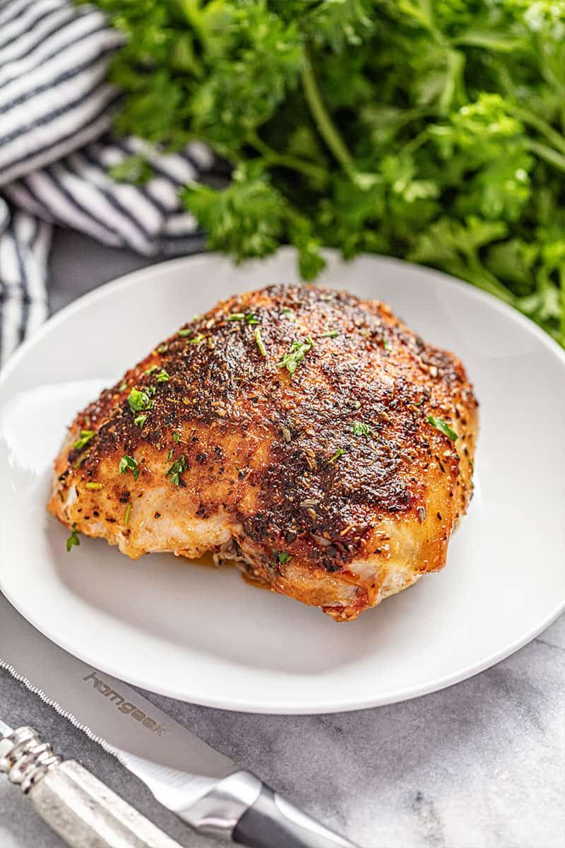 Photo of Crispy Oven Baked Chicken Thighs