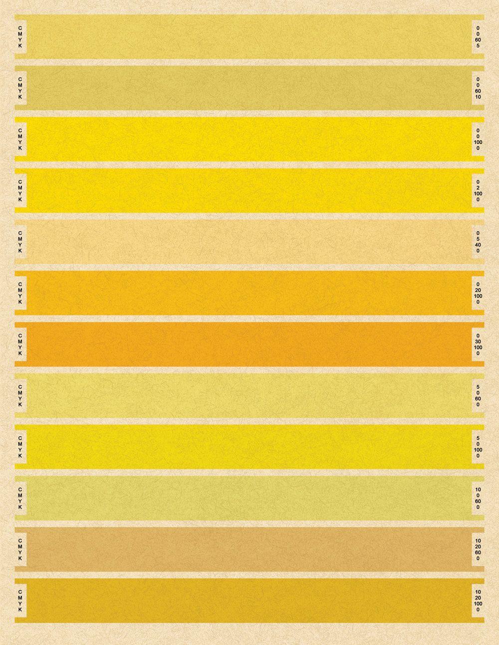 Litmus Yellow CMYK Print   love the color- yellow   Yellow