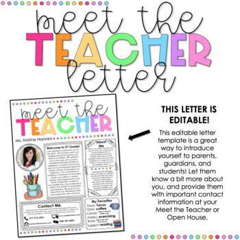 Meet the Teacher Template Editable - Newsletter - Calendar - THE BUNDLE