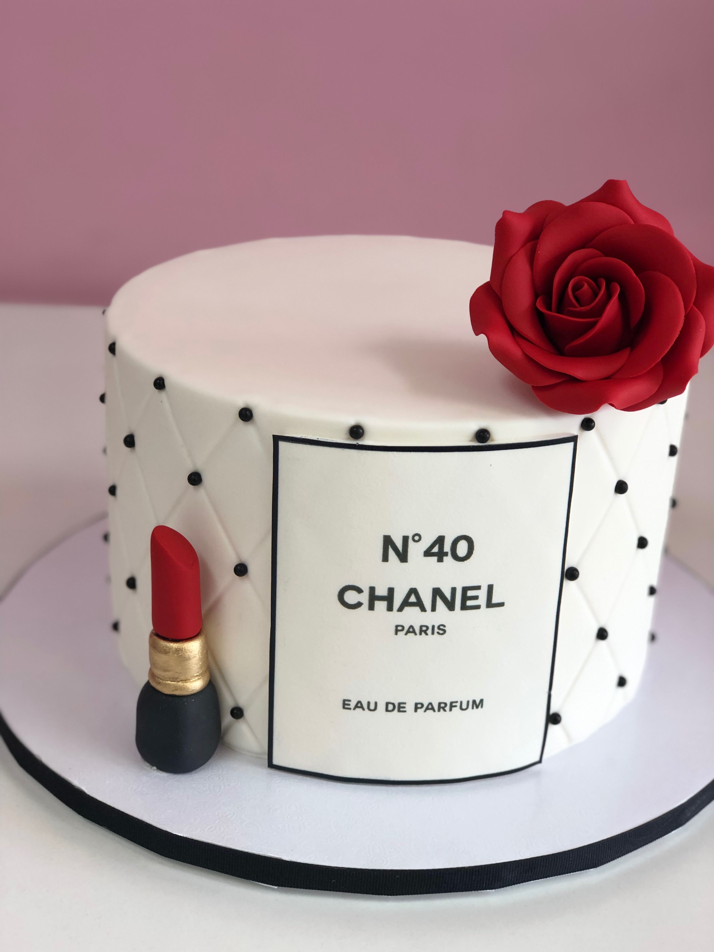 A Girl Can T Get Enough Chanel For Her Birthday Including The Cake Chanel Birthday Cake Chanel Cake Cake Designs Birthday