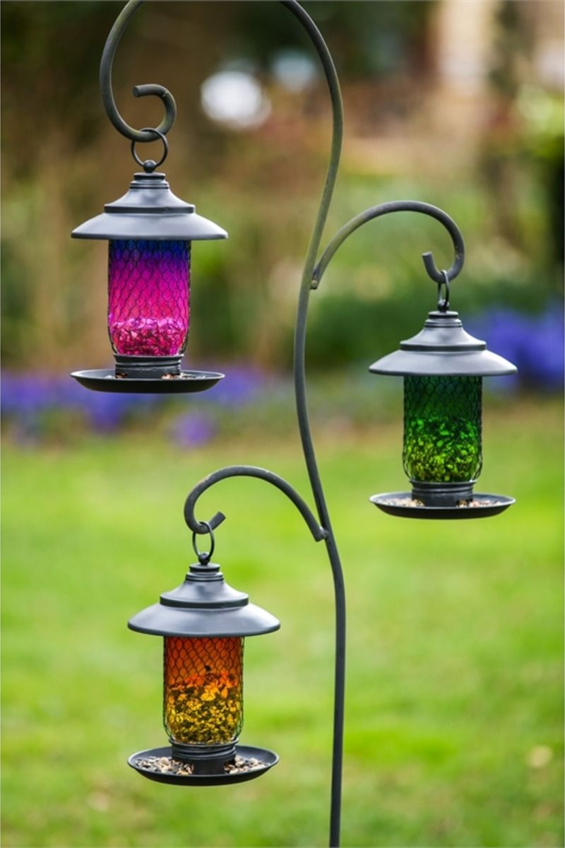 Wholesale Glass & Metal Bird Feeder, 3 ASST in 2020