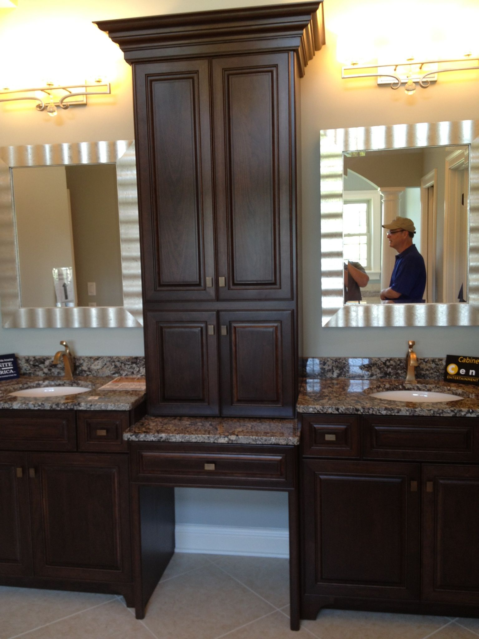 Makeup Vanity with storage Master Bathroom & Closet