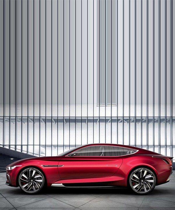 MG Motor E-vision Electric Concept Supercar Enters