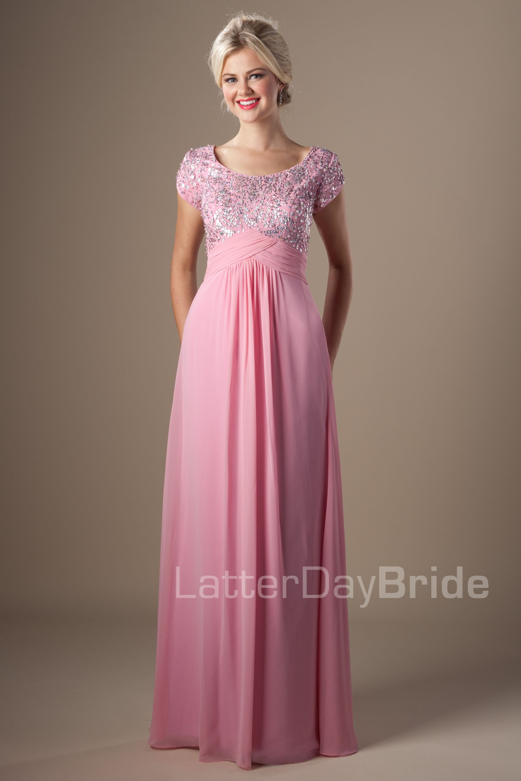 Modest Prom Dresses : Bethany | Plus Size Elegance Gowns | Pinterest ...