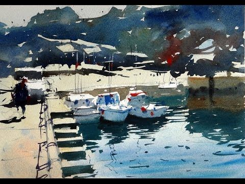 Watercolour Demonstration By Tim Wilmot How To Paint A French