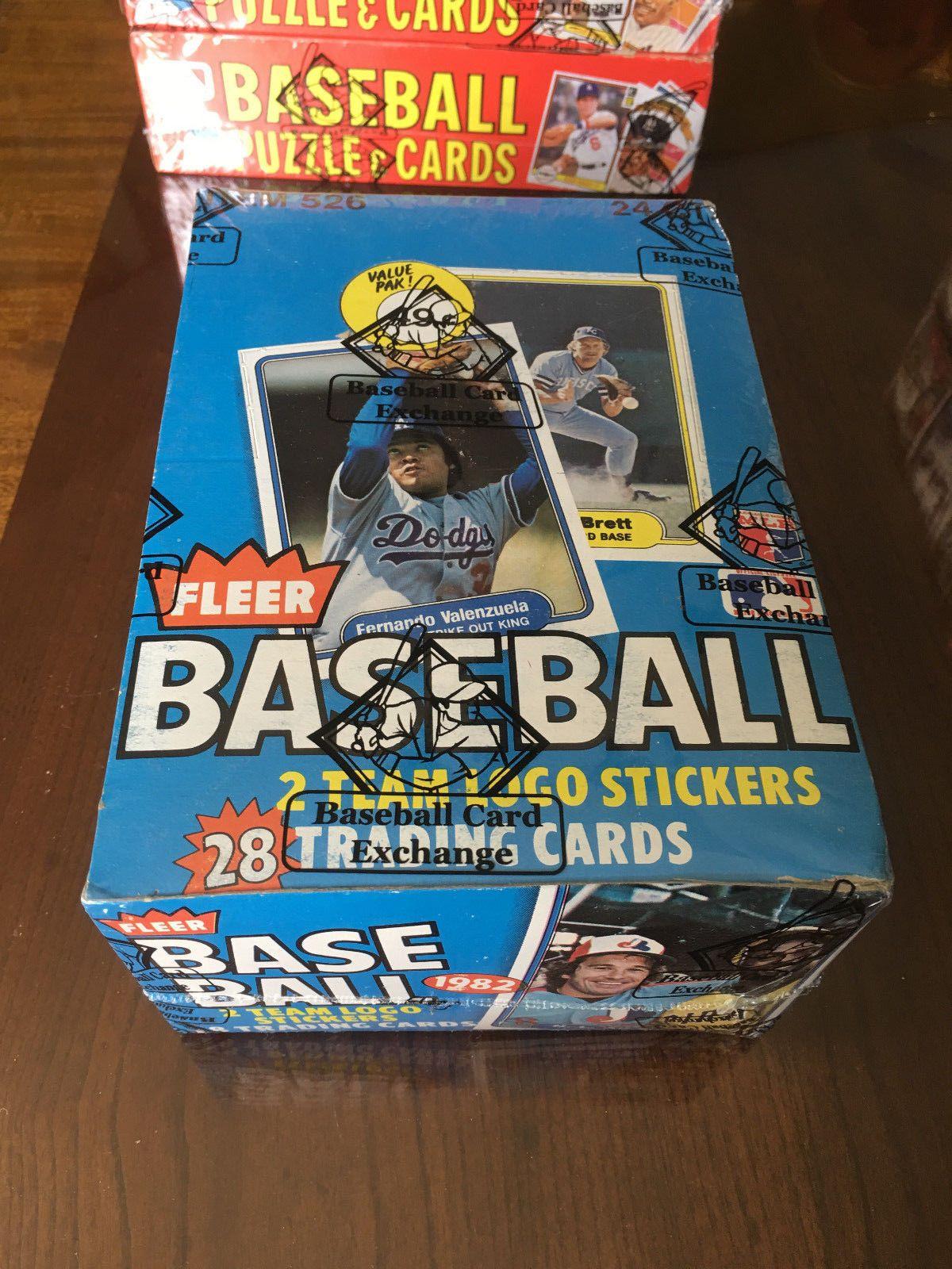 1982 fleer baseball unopened cello box bbce wrapped ripken
