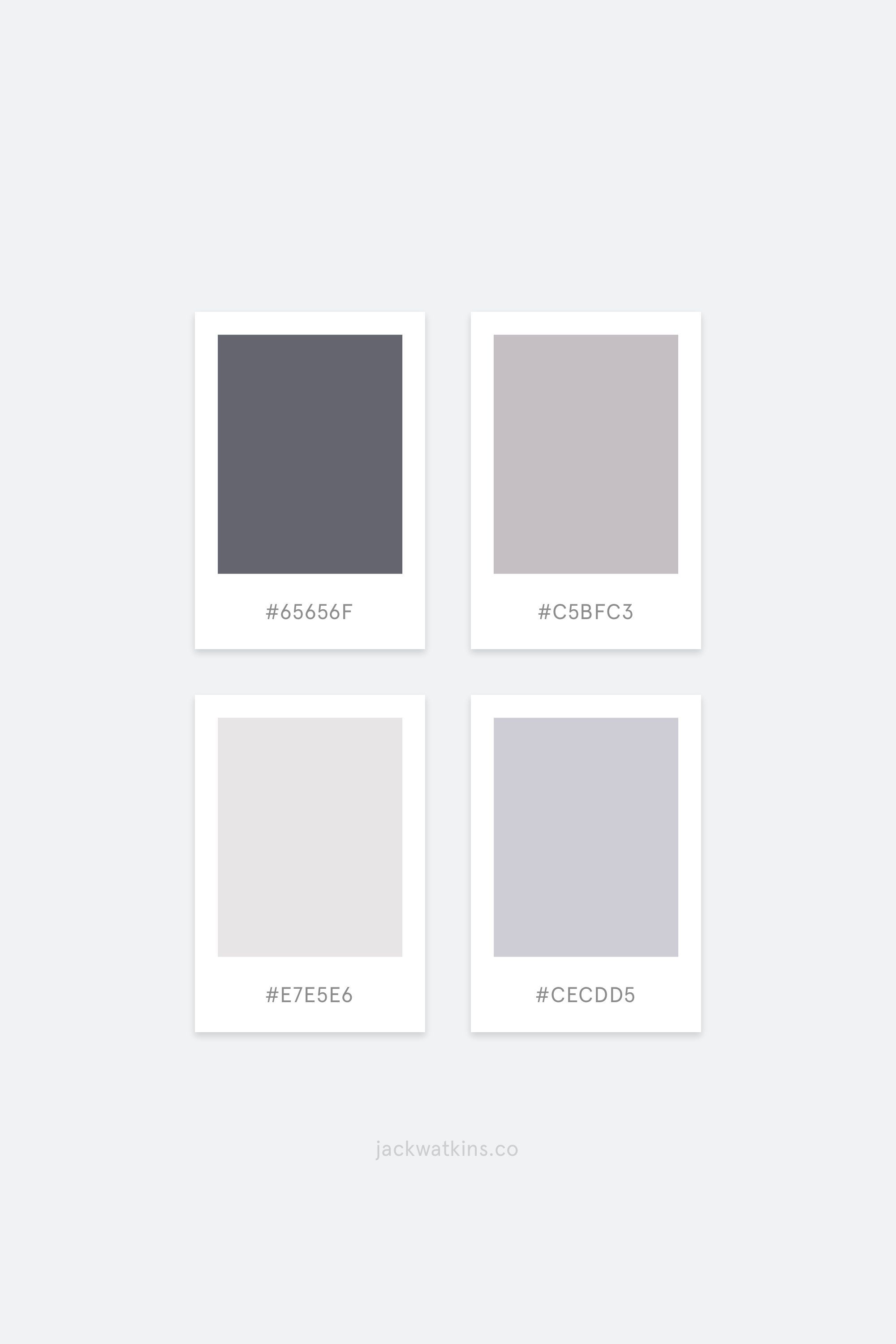 Muted Monochrome Minimalist Colour Palette Curated By Jack