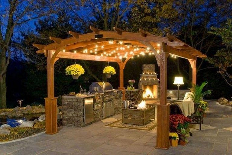28 Stunning Fall Patio Decor Ideas On A Budget Gazebo Lighting Outdoor Fireplace Designs Pergola Lighting